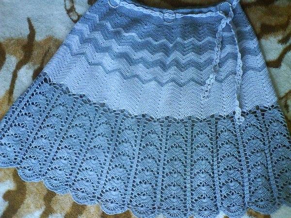 Голубая юбка для девочки