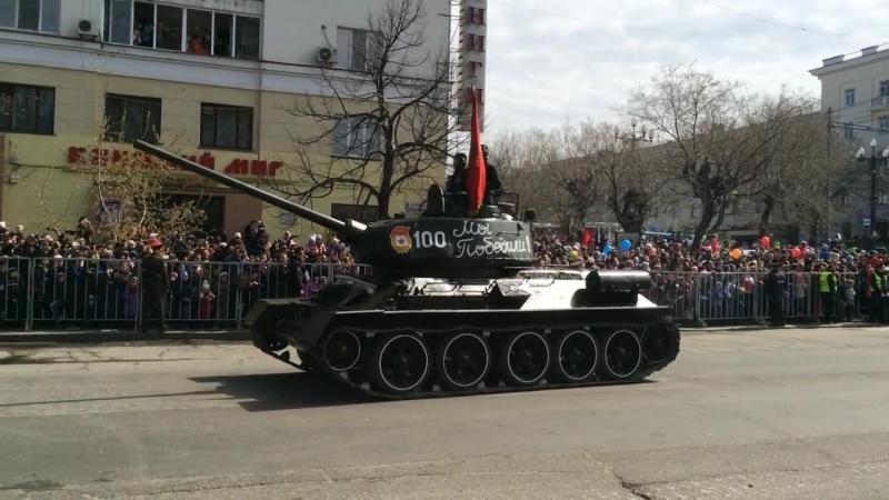 Танки МС-1, Т 34-85, ИСУ 152 и ИС 3 на Параде Победы в Хабаровске . » Freewka.com - Смотреть онлайн в хорощем качестве