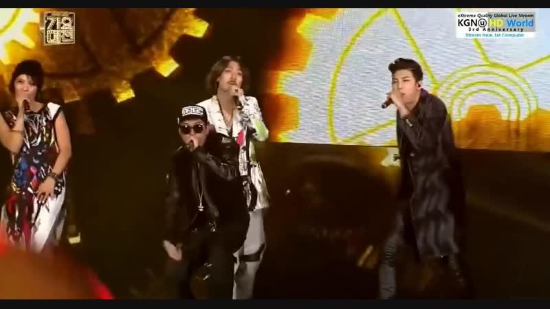 Drunken Tiger, Yoon Mirae, Bizzy, Eun Jiwon, Bang Yongguk, Rap Monster, Zico, Baro - Hip Hop Stage 2013.12.29