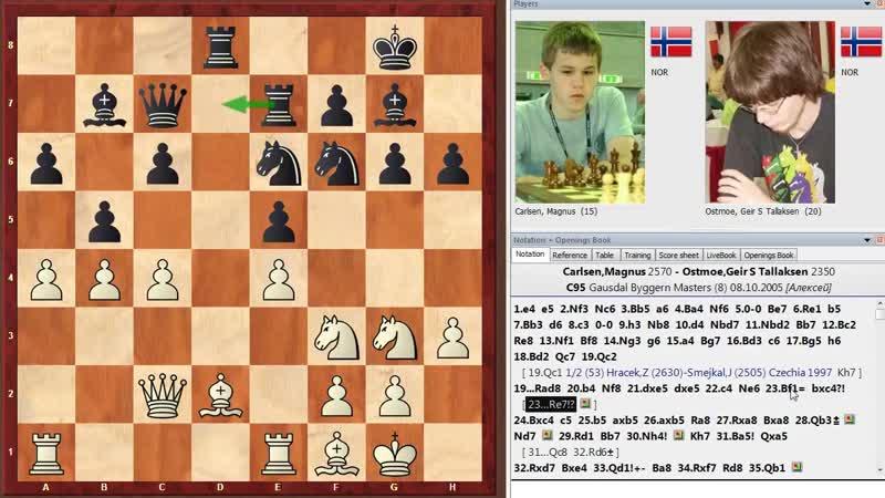 Шахматы. Магнус Карлсен. Испанская партия дебют Чемпионов Мира!