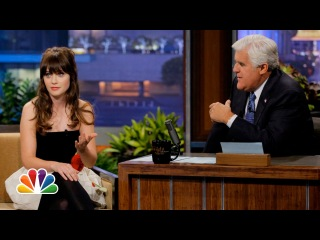 Zooey Deschanel's Haunted Apartment - The Tonight Show with Jay Leno - 13 Сентября, 2013