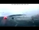 Крушение Ту 204 во Внуково 29.12.2012 запись с видеорегистратора одной из пострадавших машин