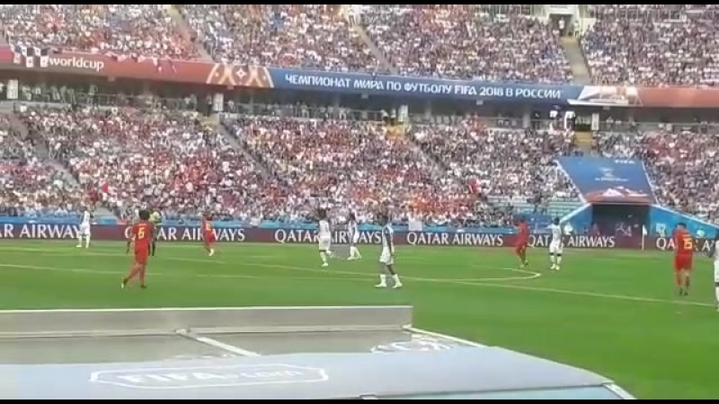 Матч Бельгия - Панама. Первый тайм сыгран. Счет 0 - 0.