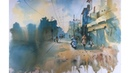 Watercolor Painting of my colony Watercolor landscape painting demonstration by Prashant Sarkar