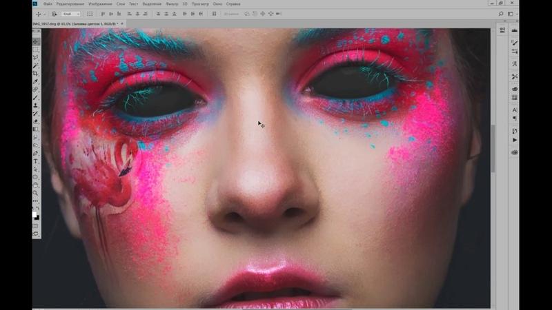 Как сделать черные (демонические) глаза, обработка фотографии/ photoshop tutorial