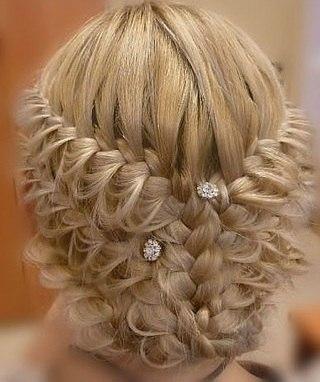 Красивые причёски на средние волосы фото для девочек - 5