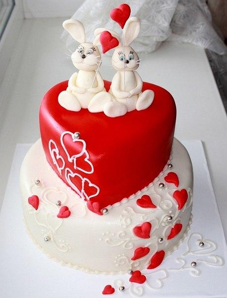 торт на 14 февраля любимому своими руками