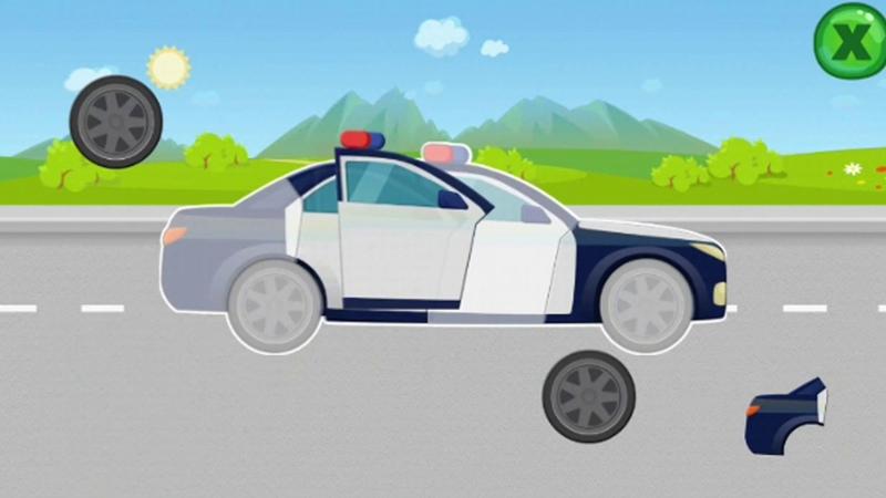 Мультик про машинки Полицейская машина скорая помощь спецтнхника Машинки пазлы для детей