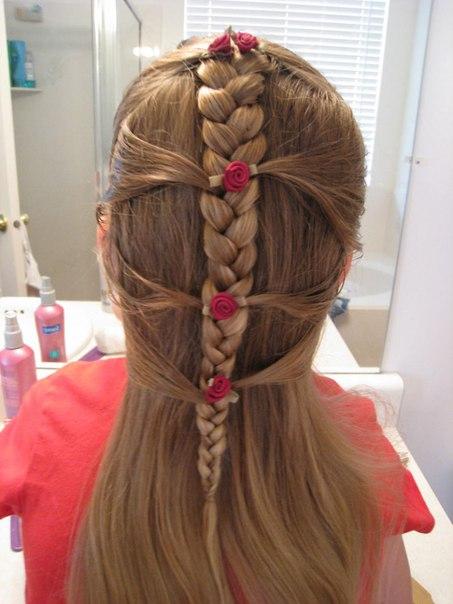 Красивые причёски для детей: коса по-французски
