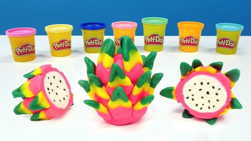 Hamur oyunları. Play-Doh oyun hamuru ile ejder meyvesi