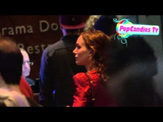 Natalie Portman & Benjamin Millepied enjoy at night at the movies inside Arclight Hollywood