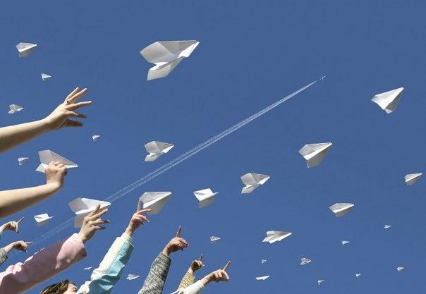 Оригами бумажных самолетиков!