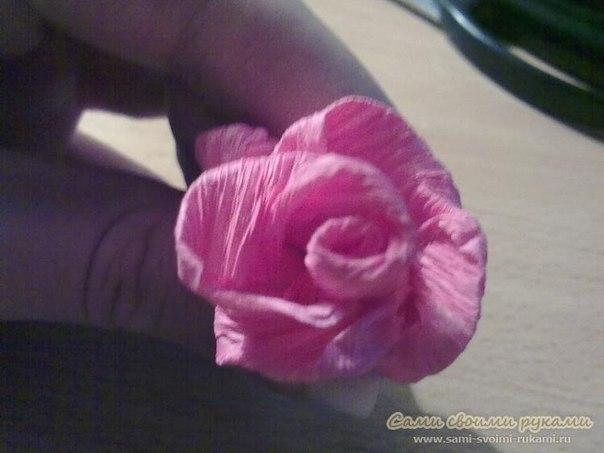 Как сделать розу из креповой бумаги своими руками 85