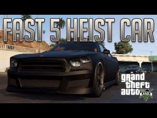 Fast 5 Heist Charger (Bravado Buffalo) : GTA V Custom Car Build