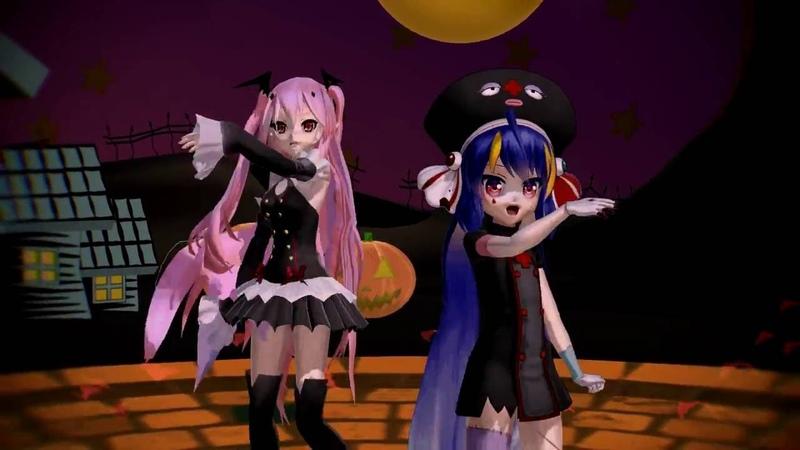 [MMD] Happy Halloween - Otomachi Una Spicy and Krul Tepes