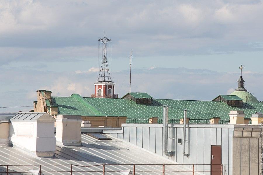 Прогулки по крыше в Санкт-Петербурге Думская башня