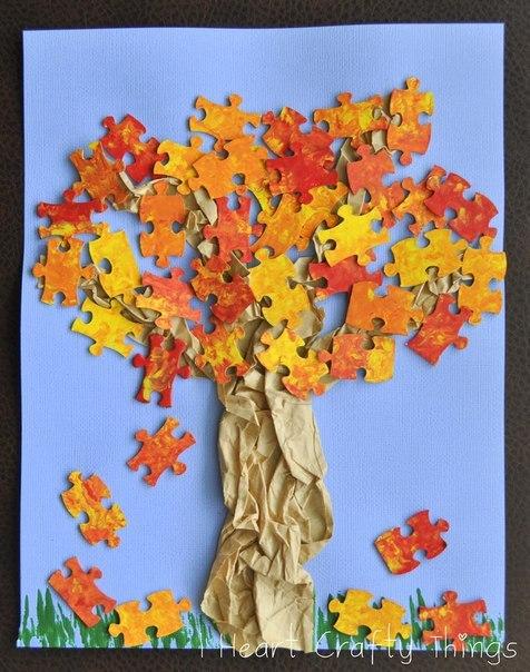 Поделки с детьми своими руками осень фото