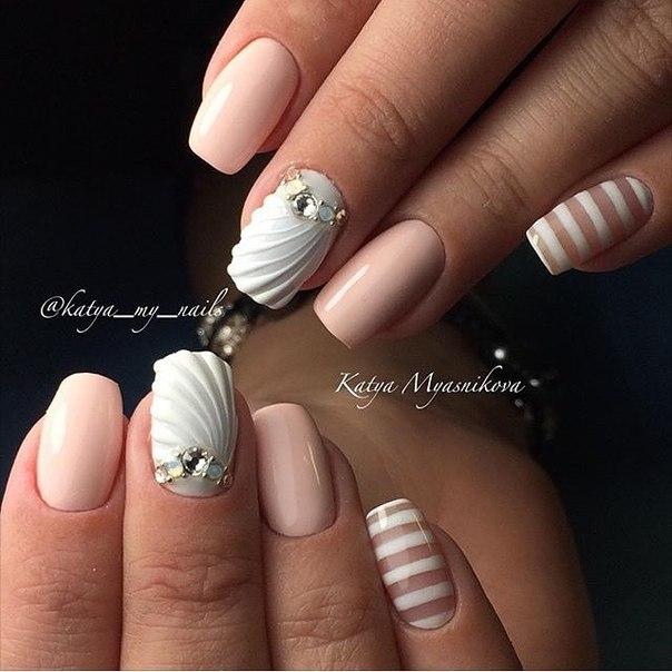 Ракушки на ногтях дизайн фото
