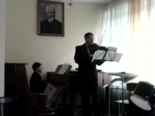 Моё выступление - аккомпанемент, фортепиано и скрипка. А. Гедике,