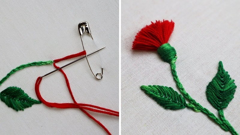 Hand Embroidery : Hack To Make Tassels Using Safety Pin | Tassel Flower