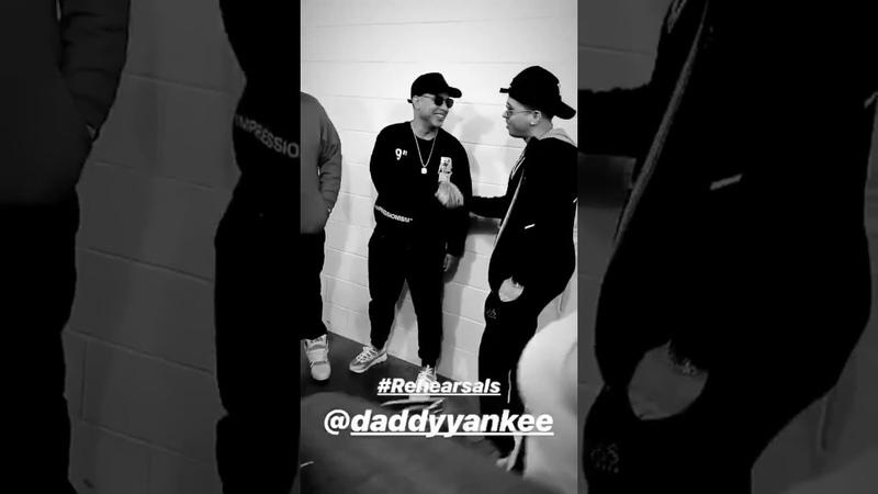 De la Ghetto Instagram Stories w Daddy Yankee - los ensayos de PLN 2019