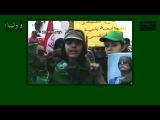 Pro Gaddafi Rally (Green Libya) Tripoli, 01-07-2011 - Message to Obama and Sarkozy from girl