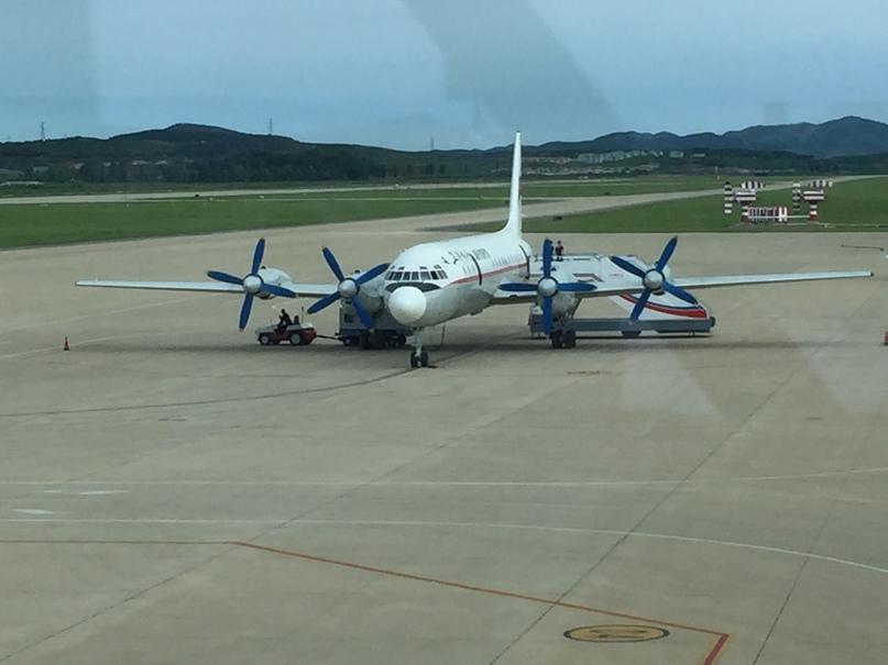 Северная Корея Владивосток. Ил-18, тоже нечасто можно встретить