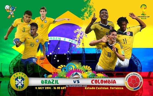 Бразилия – Колумбия. ЧМ-2014. 1/4 финала