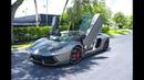 Lamborghini Aventador LP700 4 Roadster Pirelli Edition Roof Removal Start Up at Lamborghini Miami