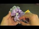 Бантики Праздничные Бант в школу из лент МК Алена Хорошилова DIY Ribbon tutorial