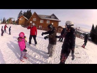Супер зарядка для детей перед катанием на лыжах)