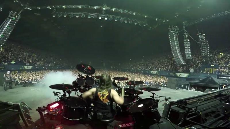 Paul Bostaph SLAYER Wembley SSE Arena, London UK - Blood Red