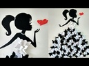 DIY Room Decor Ideas|Making Girl with butterfly dress|Wall decor with butterfly|Butterfly girl