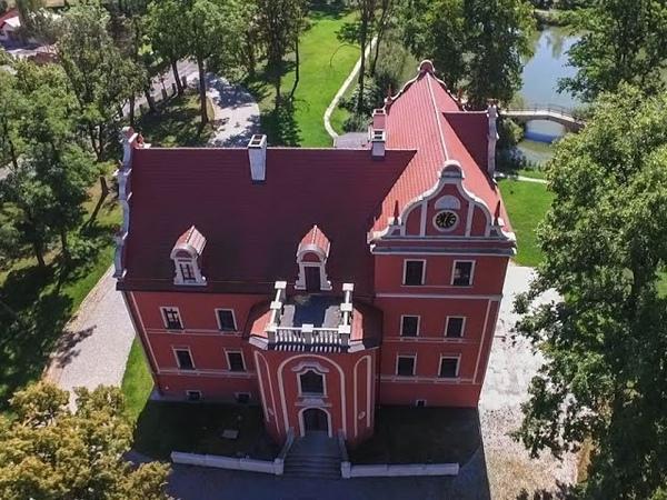 Pałac w Krotoszycach z lotu ptaka