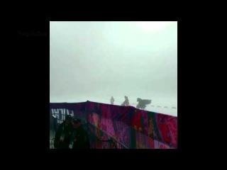 Туман в Лауре (лыжно-биатлонный комплекс) СОЧИ 2014