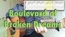 Green Day Boulevard of Broken Dreams fingerstyle cover tabs lyrics
