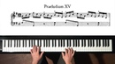 Bach Prelude and Fugue No 15 take 1 Well Tempered Clavier Book 1 with Harmonic Pedal