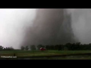 Strong, bright white tornado in South Dakota from Dominator 3! June 18, 2014