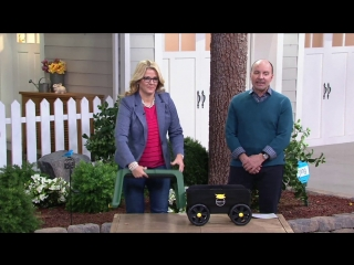 Miracle-Gro Roll N' Kneel 4-in-1 Garden Stool w/ Cover on QVC