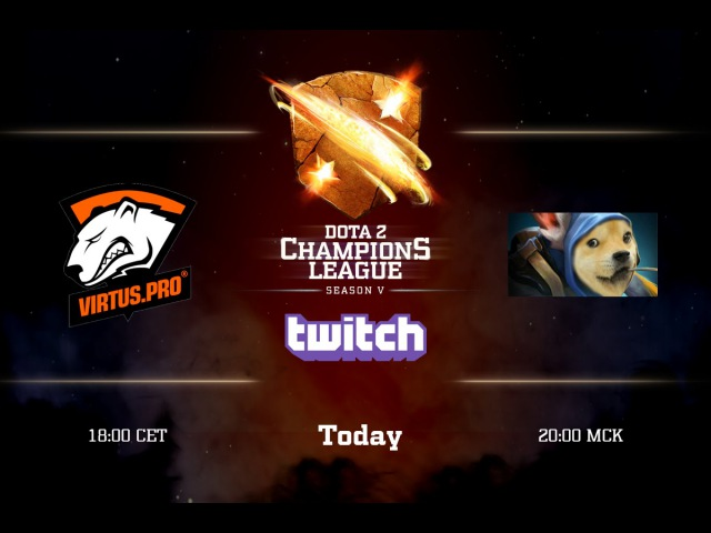Meepwn'd vs Virtus.pro Game 1 - Dota 2 Champions League @Maelstorm @LightofHeaven