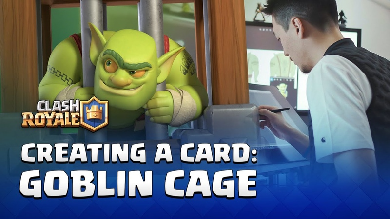 ClashRoyale - Creating a Card: Goblin Cage! (Behind the Scenes Interviews)