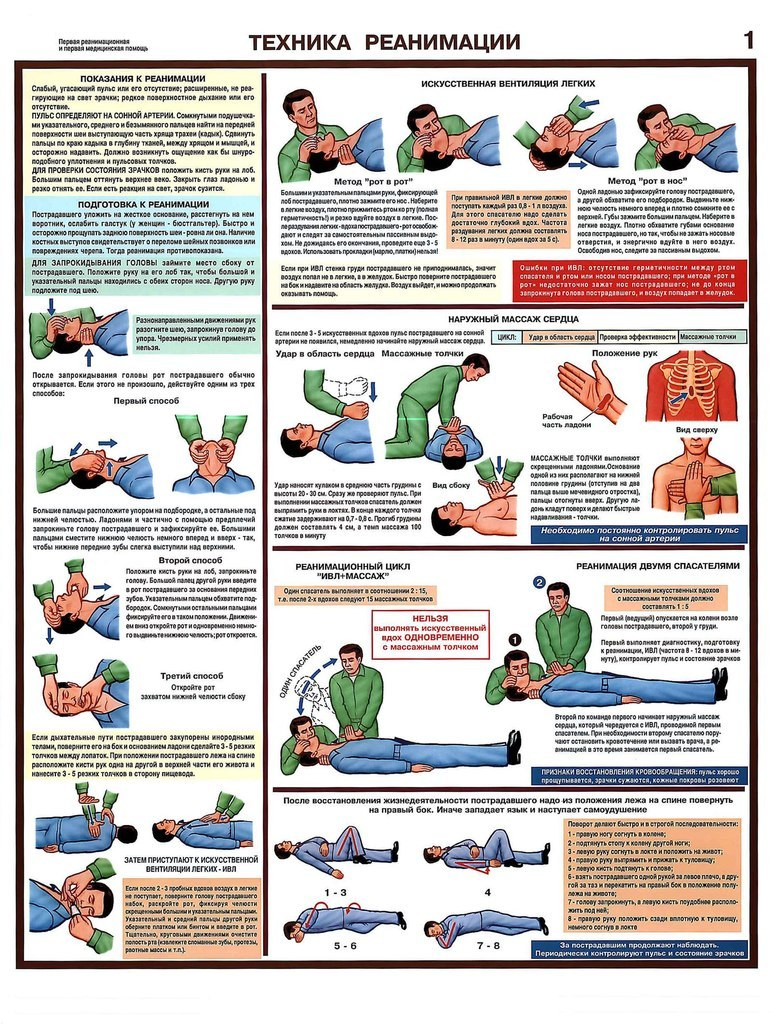 Инструкция по оказанию первой медицинской помощи детям в детском саду