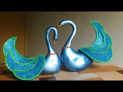 DIY Craft - Blue swan ornaments | Wedding gift idea | Tutorial | By Punekar Sneha.
