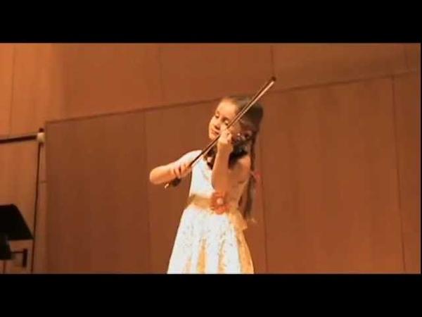 Alma Deutscher (aged 5) playing Dancla - Air varié sur un thème de Pacini - December 2010