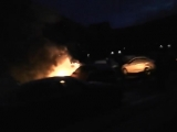 Сургут ХМАО 645 горит машина на Ленина 29. Пожарные уже разматывают ,, рукава