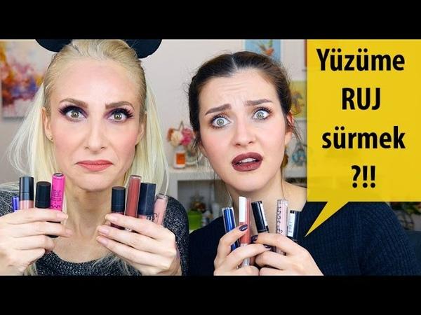 RUJ'la Tüm Yüz Makyajı Challenge | İrem Helvacıoğlu Sebile Ölmez