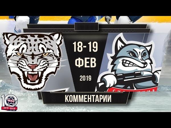 Комментарии после матчей Снежные Барсы - Сибирские Снайперы (19.02.2019)