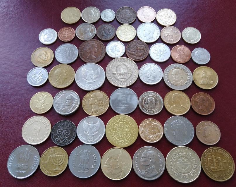 Купить коллекцию из 50 иностранных монет | Объявления Орска и Новотроицка №6229