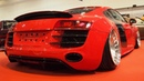 Audi R8 2009 Tuning by BSCarStyling Brilliantrot 4.2 V8 FSI 420 PS, HP-Drivetech, Rotiform CBU R19