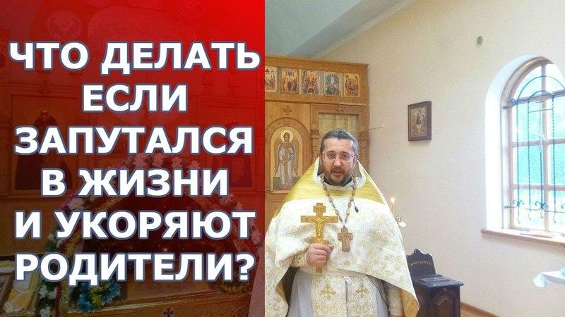 Что делать если запутался в жизни и укоряют родители? Священник Игорь Сильченков